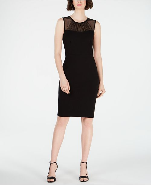 Calvin Klein Illusion-Yoke Sheath Dress