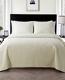 Caroline Embossed Piece 3 Piece Full/Queen Quilt Set