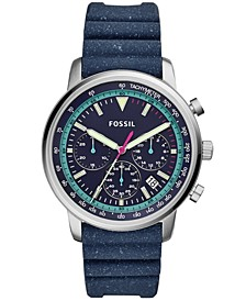 Men's Chronograph Goodwin Blue Silicone Strap Watch 44mm