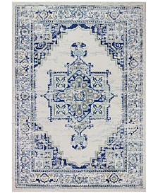 "BB Rugs Cassius CSS-507 Ivory/Blue 5' x 7'6"" Area Rug"
