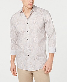 Men's Stretch Paisley Printed Shirt, Created for Macy's
