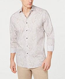 Tasso Elba Men's Stretch Paisley Printed Shirt, Created for Macy's