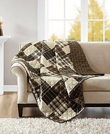"Madison Park Timber 60"" x 70"" Reversible Oversized Quilted Throw"