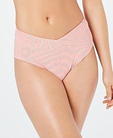 Lauren Ralph Lauren Striped Seersucker Bikini Bottoms