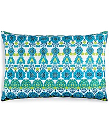 "CLOSEOUT! Small World Home Jetrich Canada Blue Medallion 16"" x 24"" Decorative Pillow"