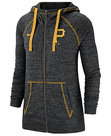 Nike Women's Pittsburgh Pirates Gym Vintage Full-Zip Hooded Sweatshirt