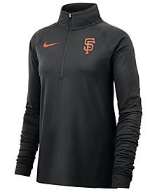Women's San Francisco Giants Half-Zip Element Pullover