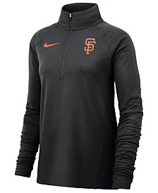Nike Women's San Francisco Giants Half-Zip Element Pullover