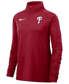 Nike Women's Philadelphia Phillies Half-Zip Element Pullover