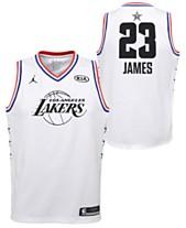 568fd0a7daf5 Outerstuff Big Boys Lebron James Los Angeles Lakers All Star Swingman Jersey