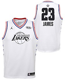 8446d4a6f916 Outerstuff Big Boys Lebron James Los Angeles Lakers All Star Swingman Jersey