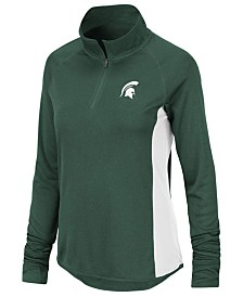 Colosseum Women's Michigan State Spartans Albi Quarter-Zip Pullover