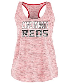 5th & Ocean Women's Cincinnati Reds Space Dye Back Logo Tank