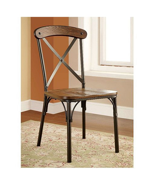 Benzara Industrial Side Chair - Set Of 2