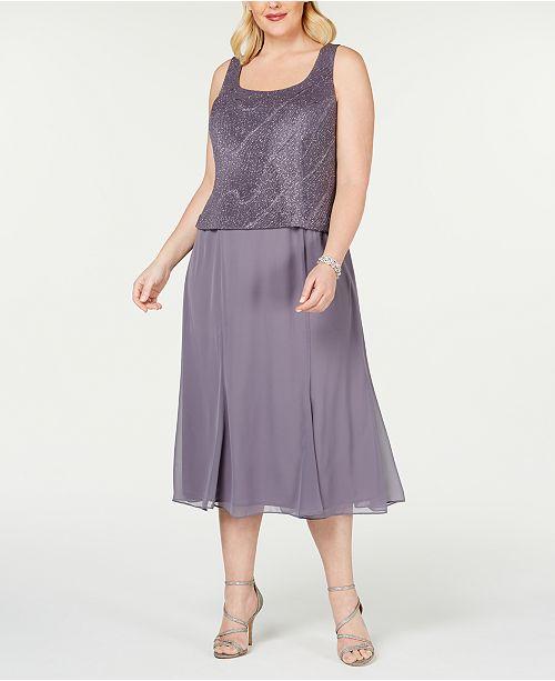 Plus Size Tea-Length Dress & Jacket