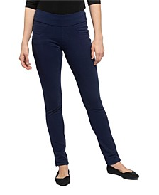 YALA Blake Organic Cotton and Viscose from Bamboo Tailored Skinny Pull-on Pant