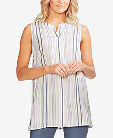 Vince Camuto Striped Sleeveless Tunic