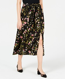 Maison Jules Printed Midi Skirt, Created for Macy's