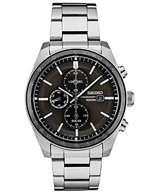 Men's Solar Chronograph Stainless Steel Bracelet Watch 43.2mm