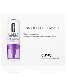 Try Fresh Pressed Vitamin A with any Clinique Fresh Pressed Vitamin C purchase!