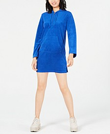 Terry Hooded Mini Dress