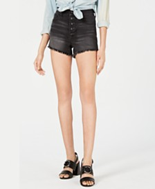 Kenall + Kylie Button-Fly Cutoff Shorts