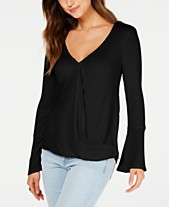 f75df17732e Style   Co V-Neck Bell-Sleeve Top