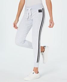 Calvin Klein Performance Logo-Print Varsity-Stripe Joggers