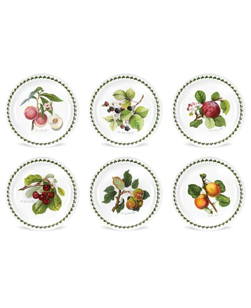 Portmeirion Pomona Salad Plate Assorted Set/6
