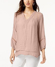 Plus Size Layered-Hem Top, Created for Macy's