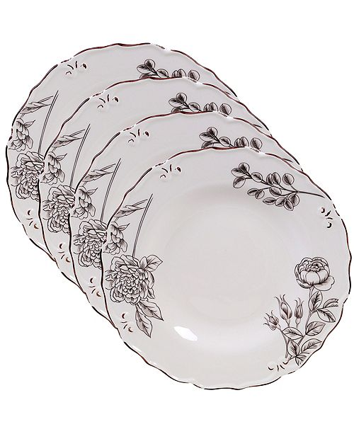 Certified International Vintage Cream with Floral 4-Pc. Dinner Plate