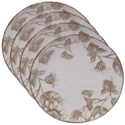 Toile Rooster 4-Pc. Dinner Plate