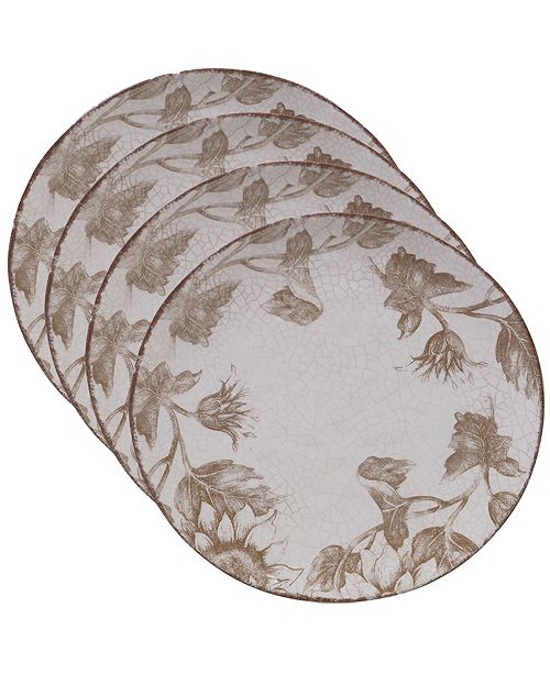 Certified International Toile Rooster 4-Pc. Dinner Plate