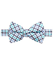 Lauren Ralph Lauren Big Boys Green Gingham Silk Bow Tie