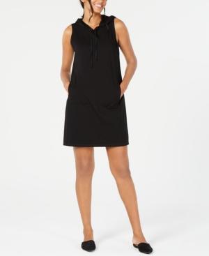 Eileen Fisher Dresses SLEEVELESS COTTON HOODED DRESS