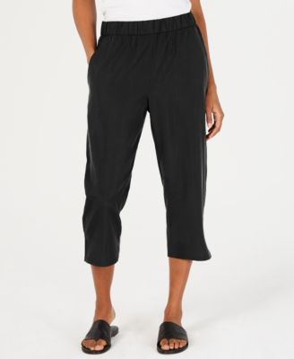 Cropped Tencel® and Recycled Polyester Pull-On Pants
