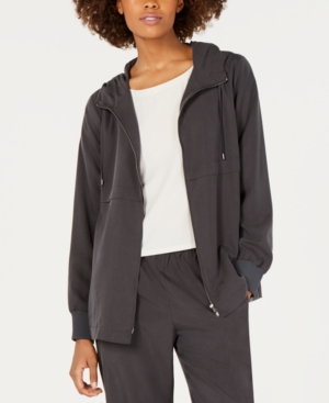 Eileen Fisher Jackets HOODED ZIP-FRONT TENCEL AND RECYCLED POLYESTER JACKET
