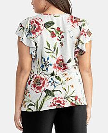 RACHEL Rachel Roy Trendy Plus Size Ruffle-Sleeve Top