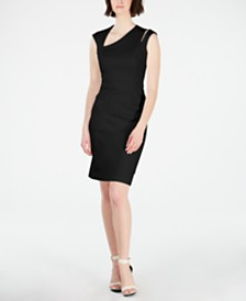 Calvin Klein Petite Asymmetrical Sheath Dress
