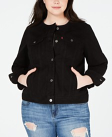 Levi's® Trendy Plus Size Cotton Denim Trucker Jacket