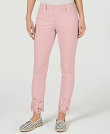 Charter Club Petite Bristol Eyelet Skinny Ankle Jeans, Created for Macy's