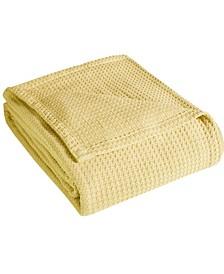 Grand Hotel Waffle Knit Cotton Twin Blanket