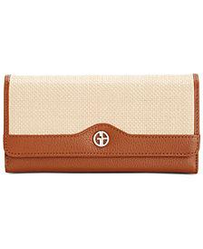 Giani Bernini Straw Softy Receipt Wallet, Created for Macy's