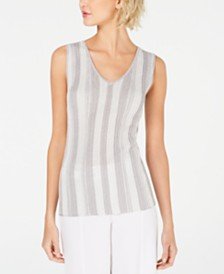 I.N.C. Metallic-Stripe Tank Top, Created for Macy's