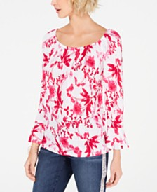I.N.C. Convertible Peasant Top, Created for Macy's
