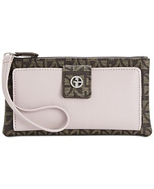 Giani Bernini Block Signature Softy Grab & Go Wristlet, Created for Macy's