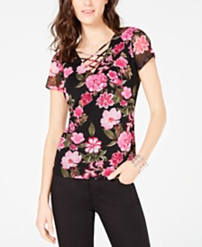 I.N.C. Petite Strappy Mesh Top, Created for Macy's