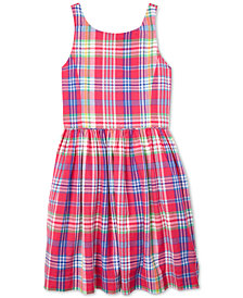 Polo Ralph Lauren Big Girls Plaid Cotton Dress