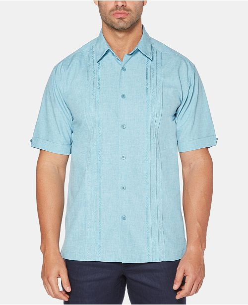 Cubavera Men's Geo Print Embroidered Shirt
