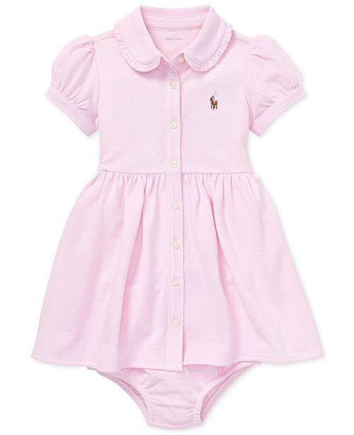 52f0d80e2 Polo Ralph Lauren Baby Girls Knit Mesh Oxford Dress   Reviews ...